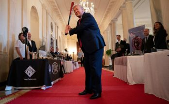 Us President Donald Trump In The Grand Foyer.jpg
